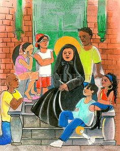 """St. Frances Cabrini   Catholic Christian Religious Art - Artwork by Br. Mickey McGrath, OSFS - From your Trinity Stores crew, """"May St. Frances watch over you today!"""""""