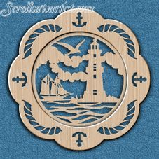 Scroll Saw Patterns :: Miscellaneous :: Decorative plates :: Decorative plate - Nautical -