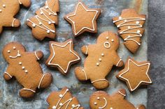 Here's something for everyone to enjoy at Christmas. This gingerbread has enough warm spice to make a sophisticated treat for the grown-ups, but not enough to turn youngsters off. The kids can get involved in making them, too; cutting out the shapes and icing them can be a lot of fun. This is an edited extract from The Tivoli Road Baker by Michael James with Pippa James (Hardie Grant Books, RRP $60), available in stores nationally.