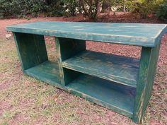 Rustic Wood Bench With Shoe Rack And Boot Storage