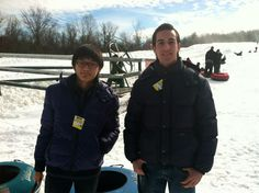 WMA students go sledding during the winter time