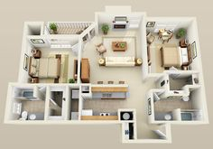 Three Bedroom Flat Layout Google Search Houses Apartments . Cleveland ...