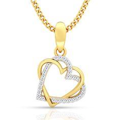 Beautifull Diamond Pendant in hallmarked yellow gold. Order it online.