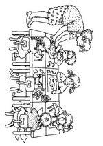 Back To School Coloring Pages 6 Dinosaur Coloring Pages, School Coloring Pages, Coloring Books, Word Wall Activities, Infant Activities, Rainy Day Activities, Kindergarten Pictures, Barbie Coloring, Starting School
