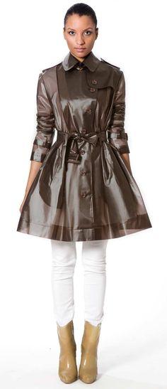 Semi-transparent, smoky hued, 100% waterproof, & great-looking rain jacket avail online at Terra New York. via Cool Hunting.