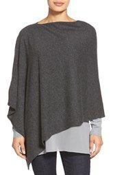 Love this charcoal cashmere poncho. Love the soft layers.