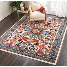 Bloomsbury Market Cullens Ivory Area Rug Rug Size: Rectangle x Living Room Carpet, Rugs In Living Room, Living Room Decor, Bedroom Decor, Dorm Room Rugs, Dining Room, Coffee Table Oriental, Contemporary Rugs, Modern Rugs