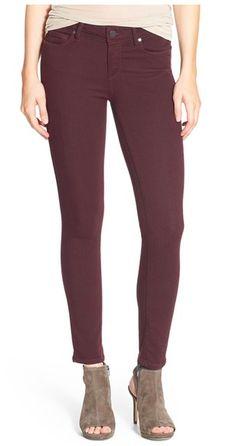 PAIGE 'Verdugo' Ankle Skinny Jeans (Aubergine) #NSale