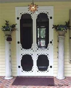 Wooden screen door, Wood screen door, Vintage screen door