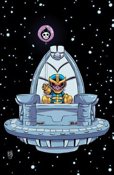 Thanos Rising Baby Variant - Skottie Young