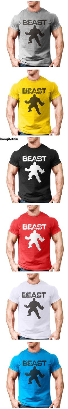 New Brand clothing Bodybuilding Fitness Men beast printed t-shirts Golds Gorilla Wear tee shirts Stringer tops