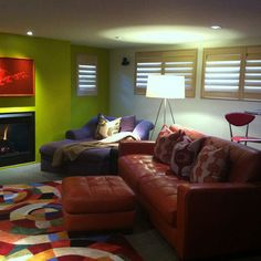Contemporary Basement window treatments Design Ideas, Pictures, Remodel and Decor @Connie Sawyer