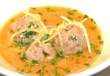 Sicilian Sciusceddu is a pumped-up egg drop soup. Fortified with tiny meatballs, ricotta,egg and caciocavallo cheese. www.francolania.com