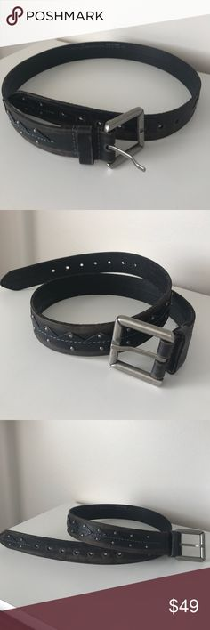 Nwot genuine leather size medium/34-36 men's belt Genuine leather eye cool think distressed look just very cool never been worn brand new,  it's very cool Buckle Accessories Belts