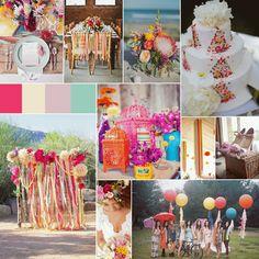 Colorful: Bright: Fun: Spring Wedding Inspiration Board