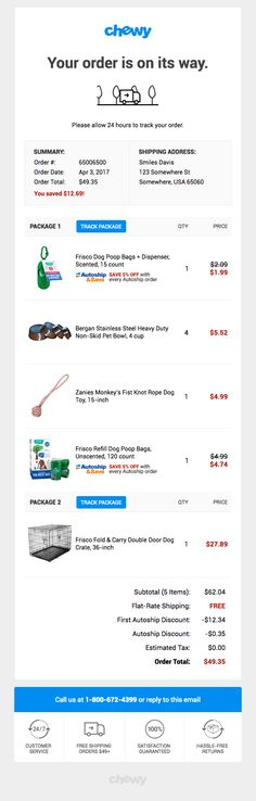 20 best order confirmation inspiration images on pinterest in 2018 your chewy order has shipped really good emails web design email design maxwellsz