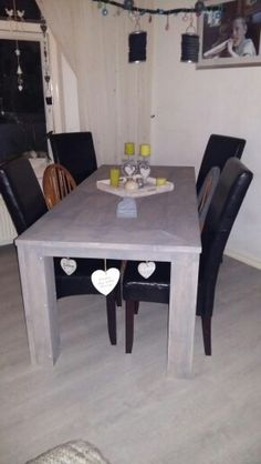 Steigerhouten tafel met Grey wash