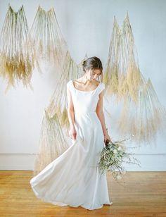 simple flowly dress + with organic boho decor