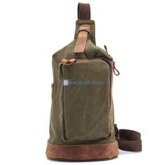 Canvas Sling Bags For MenSingle Strap Backpacks Material: canvas Color:Green Size: 19*9*28cm Gender: Male Related Sling backpacks:Canvas Sling BagsSling Canvas BagSmall Leather Backpacks