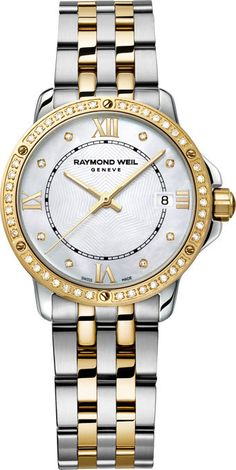 Raymond Weil Watch Tango Ladies #bezel-diamond #bracelet-strap-gold #brand-raymond-weil #case-depth-6-6mm #case-material-yellow-gold #case-width-28mm #date-yes #delivery-timescale-4-7-days #dial-colour-white #gender-ladies #luxury #movement-quartz-battery #official-stockist-for-raymond-weil-watches #packaging-raymond-weil-watch-packaging #style-dress #subcat-tango #supplier-model-no-5391-sps-00995 #warranty-raymond-weil-official-2-year-guarantee #water-resistant-100m