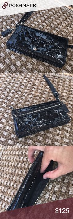 Black Coach Wallet In excellent condition, barely used. Absolutely nothing wrong with it. Coach Bags Wallets