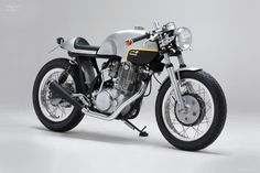 The Yamaha SR500 has been a well established motorcycle for more than 35 years so almost every imaginable conversion already exists. However