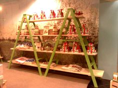 Ladder retail display fixture for Harry and David by Michigan Ladder Company.