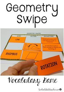 Mastering Geometry Vocabulary: Learn how to play GEOMETRY SWIPE, the Ultimate Geometry Vocabulary Challenge, Geometry Match, and Geometry Go Fish with that critical geometry vocabulary! Many ideas to make vocabulary FUN!