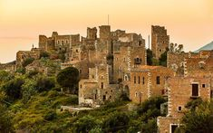 Towers in the medieval village Vathia near Areopoli Lakonia Peloponnese Travel Around The World, Around The Worlds, Tower House, Stone Path, Stone Houses, Greek Gods, Countryside, Monument Valley, In This Moment