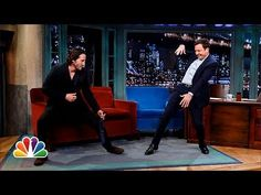 """Keanu ♡♥ Reeves Defends Jimmy's T'ai Chi ~ """"In honor of Keanu's directorial debut in """"Man of Tai Chi,"""" Jimmy asks Keanu to test out a move of his own, which doesn't end well for Jimmy."""" - From Late Night with Jimmy Fallon Ideal Man, Perfect Man, Jimmy Fallon Youtube, Man Of Tai Chi, The Matrix, Keanu Reeves Quotes, Little Buddha, Keanu Charles Reeves, Latest Movies"""