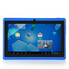 """7"""" Blue Wi-Fi Enabled Tablet 4GB, Dual Camera, Android. Only at www.pandadeals.co.uk"""
