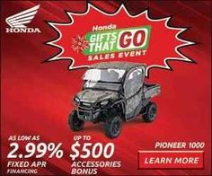 "New 2016 Honda Pioneerâ""¢ 1000 ATVs For Sale in Wisconsin."