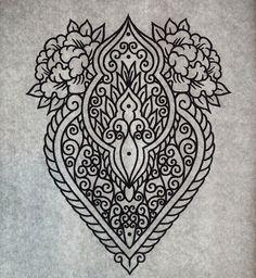 Mehndi ornament tattoo design by genotas.deviantart.com on @DeviantArt