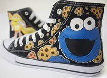 Zapatillas Monstruo de las Galletas by www.pimpamcreations.com - Custom Shoes Cookie Monster -