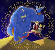 YYYYYYYYYYYEEEEEEEEEEEESSSSSSSSSSS!!!!! Armstrong!!! Fullmetal Alchemist and Aladdin