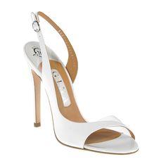 8682e33186c0 GINA Shoes Latanya White Open Toe Shoes
