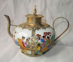 Decorated Handwork Porcelain Armored Lid Teapot | eBay