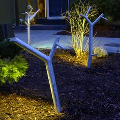 """NEW GROWTH OUTDOOR PATHWAY LIGHT    Materials: Aluminum  Dimensions: Approximately 20""""H    Options: Size, finish, design"""
