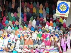 Colorful traditional shoes, Tangier, Morocco