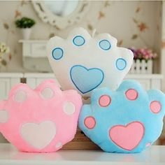 Colorful Stuffed Bear Paw LED Glowing Light Up Plush Pillow Cushion De – shopbabyitems Cute Pillows, Diy Pillows, Decorative Pillows, Cushions, Diy Crafts For Girls, Diy And Crafts, Led Glow Lights, Sewing Crafts, Sewing Projects