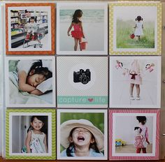 Love the square photo pages and having white borders on the photos