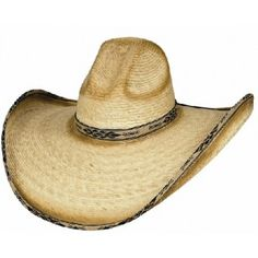 Bullhide Cowboy Hat Summerhaven 15X Palm Leaf Straw Cowboy Hat GREAT SUN  AND PARTY COWBOY HAT 398e3fca414