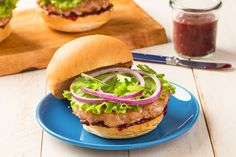Turkey burgers don't have to be boring! Summer Time Turkey Burgers are loaded and topped with everything good. Serve with sweet potato fries.