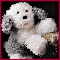 Cachorro Bobtail amigurumi