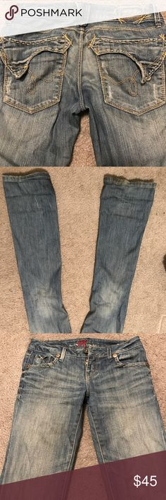 Denim jeans Denim jeans in size 25. It has a nice denim wash see in pictures. In excellent condition. Only worn twice. Blu Pepper Jeans Boot Cut