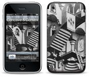 Concave and Convex for iPhone 3GS, 3G, Original by MC Escher