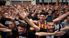 nice Huge protests in Barcelona after Catalan referendum crackdown