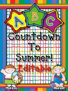 Live, Love, Laugh Everyday in Kindergarten: ABC Countdown to Summer!!