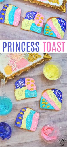 This Princess Toast would be wonderful to serve at a play date, and if you are having a princess party, this would perfect for the guests to make and eat! Easy Meals For Kids, Toddler Meals, Kids Meals, Toddler Food, Snacks Kids, Toddler Recipes, Best Breakfast Recipes, Snack Recipes, Dessert Recipes