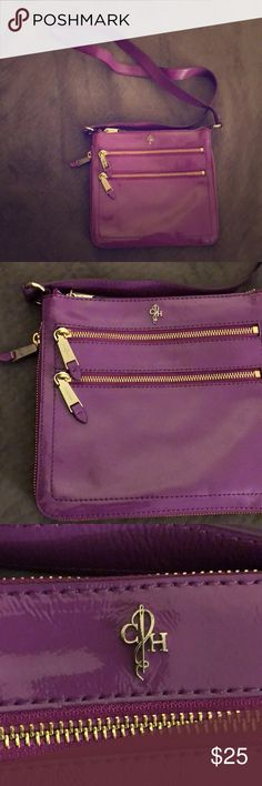 Cole Haan Crossover bag Purple Cole Haan Crossbody Purse. 2 additional pockets in front. Clean. Gold zippers. Super cute and nice for Summer 😍 Cole Haan Bags Crossbody Bags